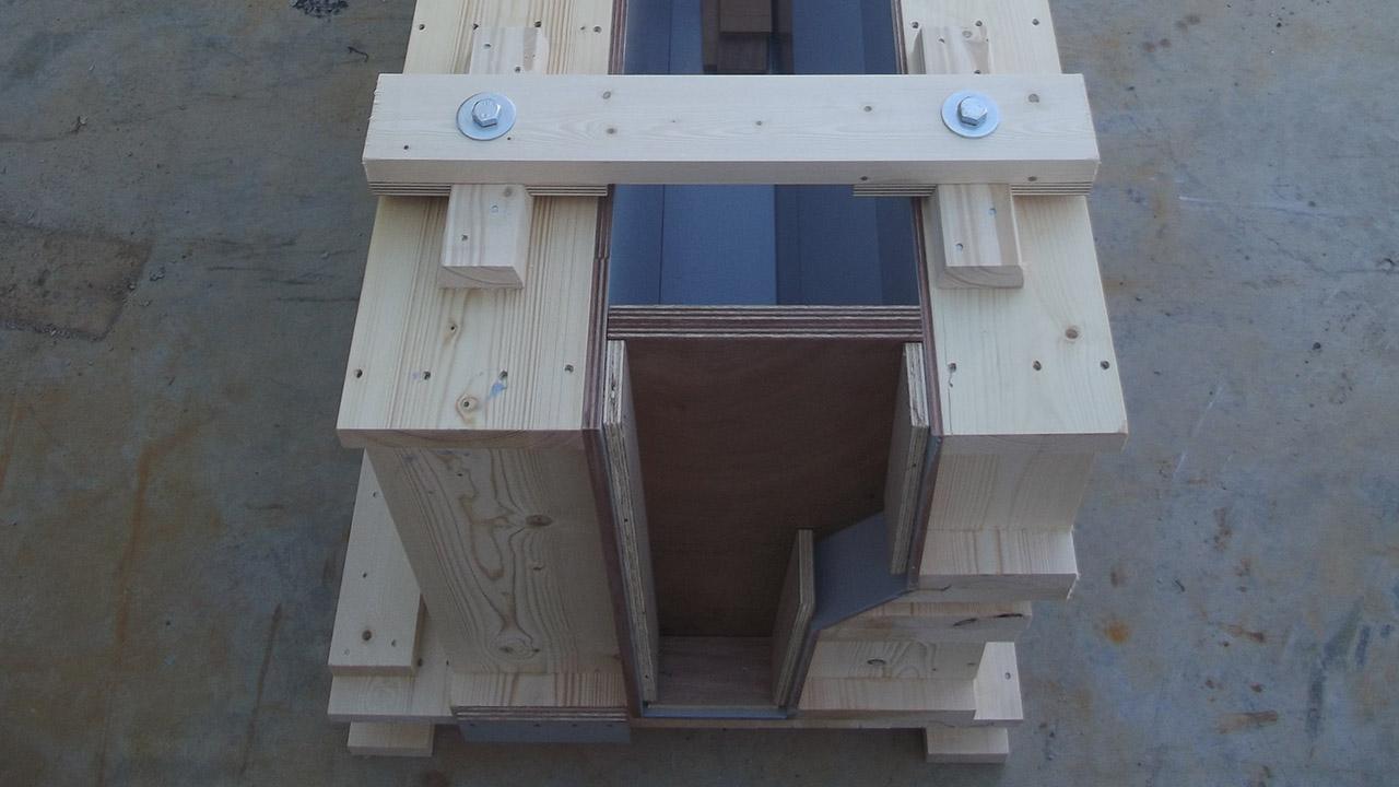 Extension et réaménagement de la gare de péage – Réalisation d'un moule en bois pour bordure préfabriquée